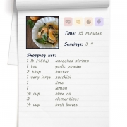 Recipe - Cold Citrus Shrimp Zoodle Bowl