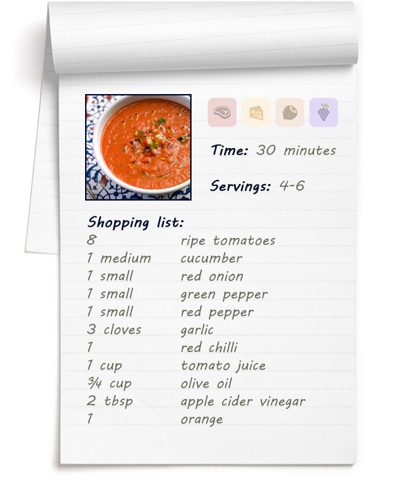 Recipe - Delicious Gazpacho