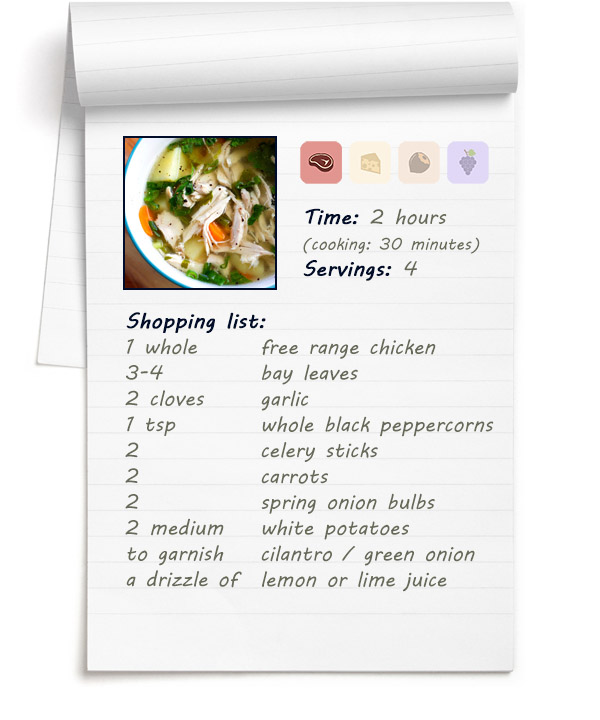 Recipe - Fall-of-the-bone Chicken Soup with Vegetables