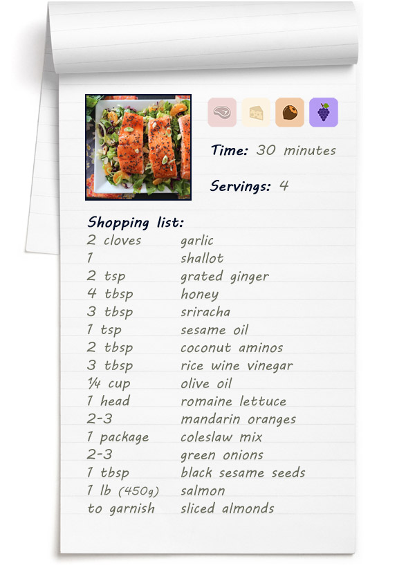 Recipe - Spicy Candied Salmon Salad