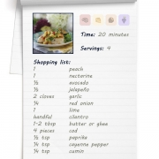 Recipe - Spicy Cod with Peach Nectarine Salsa