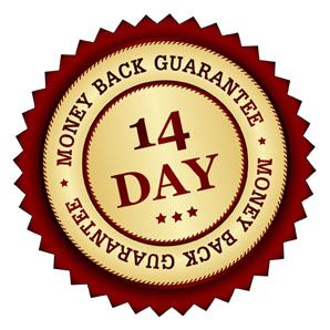 Badge: 14 day money back guarantee
